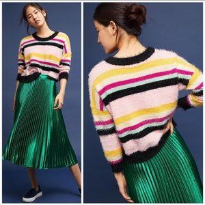 Anthropologie Moth Rosalie Striped Sweater